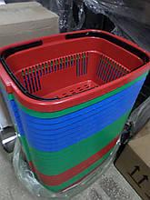 Корзины покупательские пластиковые новые 22 л., корзины для супермаркетов новые.