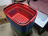 Корзины покупательские пластиковые новые 22 л., корзины для супермаркетов новые., фото 4