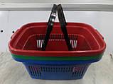 Корзины покупательские пластиковые новые 22 л., корзины для супермаркетов новые., фото 5