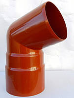 Водосточные системы . Колено для трубы водосток Bryza 90 мм  ( цвет Кирпичный )
