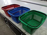 Корзины покупательские пластиковые новые 22 л., корзины для супермаркетов новые., фото 3