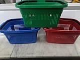 Корзины покупательские пластиковые новые 22 л., корзины для супермаркетов новые., фото 2