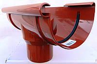 Водосточная система. Воронка для водостока Bryza 125/90 мм  ( цвет Кирпичный )