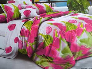"""Полуторное постельное белье """"Удивительные тюльпаны"""""""