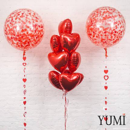 Оформление из гелиевых шаров ко Дню Влюбленных, фото 2