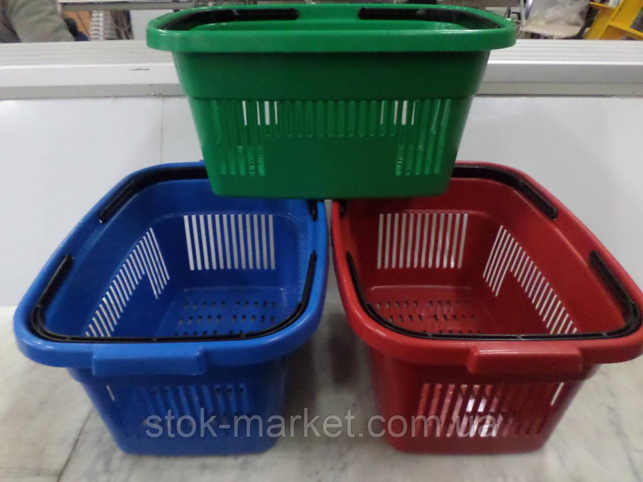 Корзины пластиковые для супермаркетов 22 л. новые. Корзины покупательские б/у