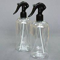 Бутылочка круглая 500мл с черным триггером (распылитель)