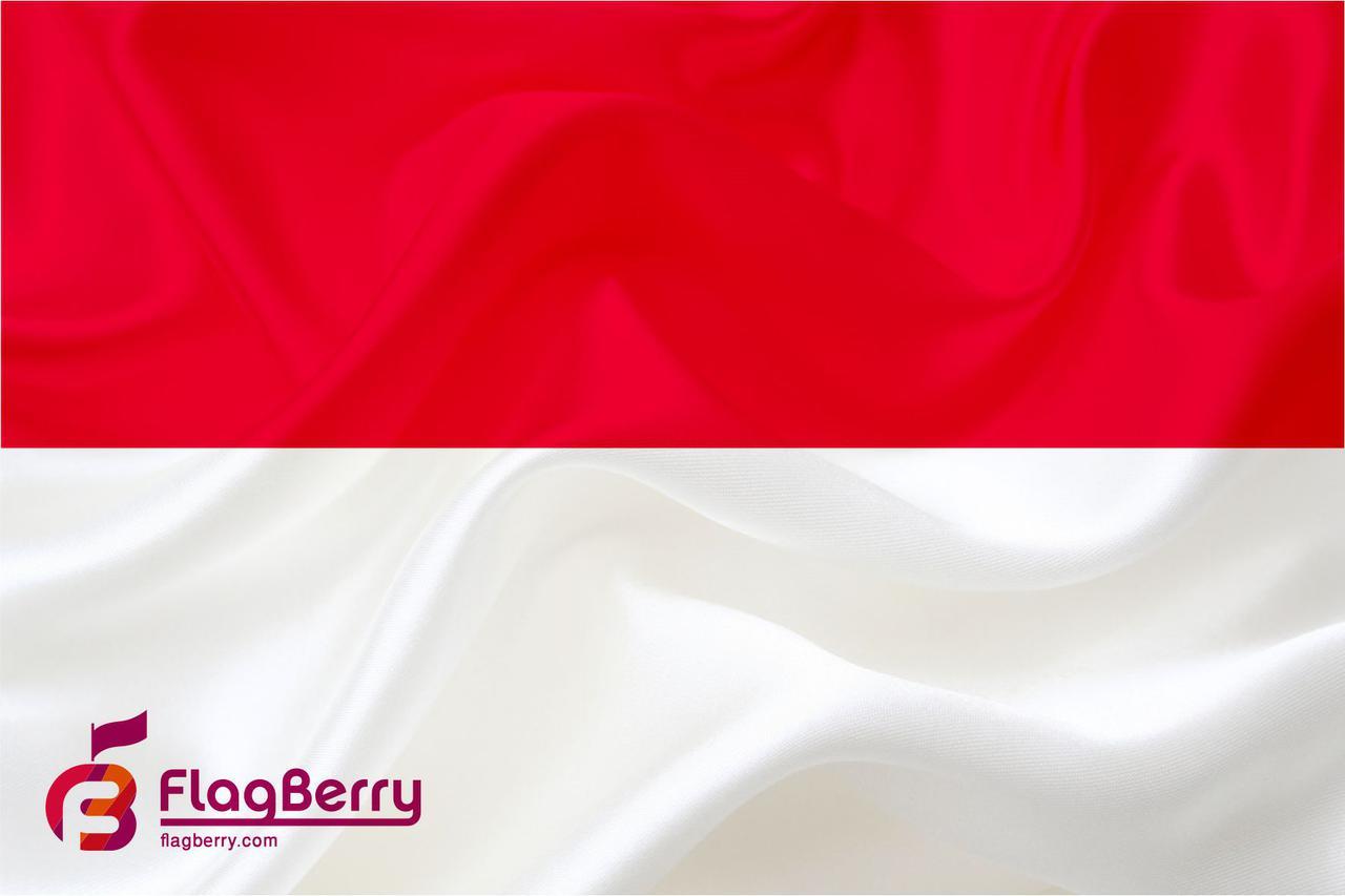 Флажок  Индонезии 13,5*25 см., плотный атлас
