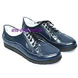 """Туфли женские кожаные на шнуровке. ТМ """"Maestro"""", фото 3"""