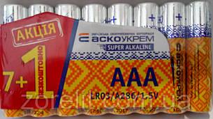 Батарейка Аско LR03 (7+1шт)