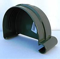 Водосточная система Bryza (Бриза) 125 мм ЗАГЛУШКА ЖЕЛОБА ЛЕВАЯ  ( цвет Зеленый )