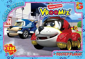 "Пазлы серии ""Vroomiz"" 126 эл. (полотно 210*300мм) в кор. 19х13х3см GToys"