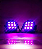 Мощные Led par 9x12 4in1RGBW dmx светомузыка, подсветка, стробоскоп