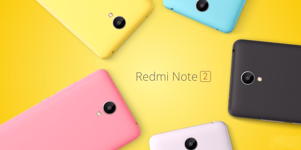 "Смартфон Xiaomi Redmi Note 2, 2/16GB, 8 ядер, 13/5Мп, 5.5"" IPS, 2SIM, 4G, 3060мА"