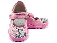 Яркие детские тапочки WALDI для девочки (р24-27)