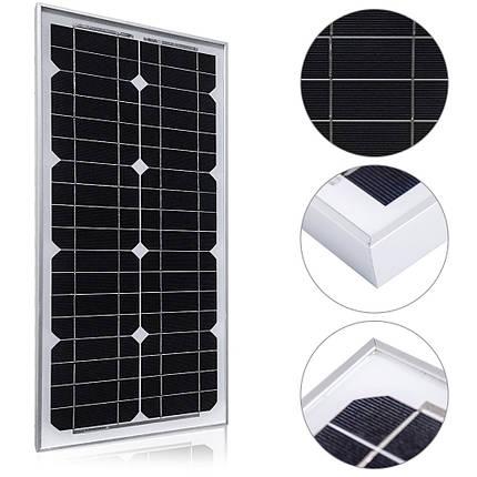 Солнечная батарея Altek ALM-30M, 30 Вт (монокристалл), фото 2