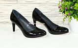 Женские классические лаковые черные туфли на шпильке! , фото 2