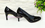 Женские классические лаковые черные туфли на шпильке! , фото 3