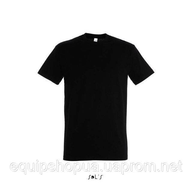 Футболка мужская с круглым воротом SOL'S IMPERIAL-11500  Чёрная, l