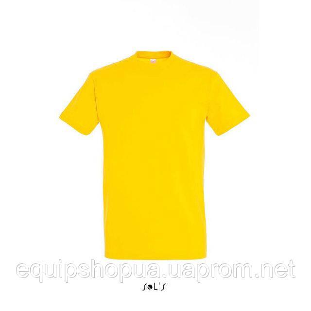 Футболка мужская с круглым воротом SOL'S IMPERIAL-11500  Жёлтая, m