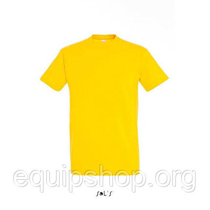 Футболка мужская с круглым воротом SOL'S IMPERIAL-11500  Жёлтая, l, фото 2