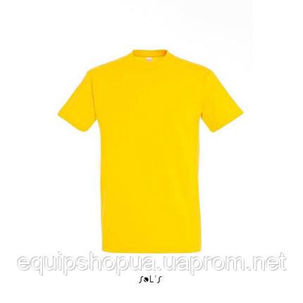 Футболка мужская с круглым воротом SOL'S IMPERIAL-11500  Жёлтая, xl, фото 2