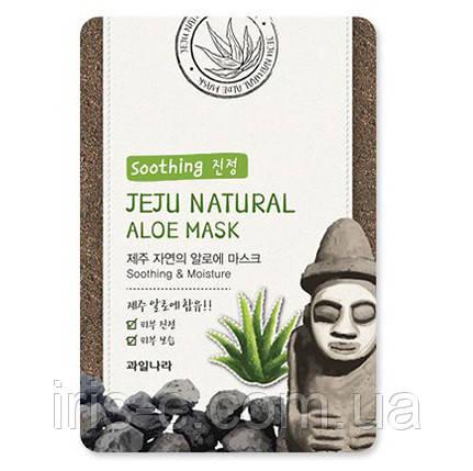 Маска тканевая с алоэ WELCOS KWAILNARA Jeju Natural Mask Aloe 20мл