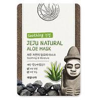 Маска тканевая с алоэ WELCOS KWAILNARA Jeju Natural Mask Aloe 20мл, фото 1
