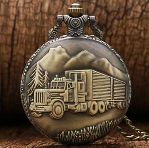 Кишенькові чоловічий годинник на ланцюжку вантажівка, фото 2