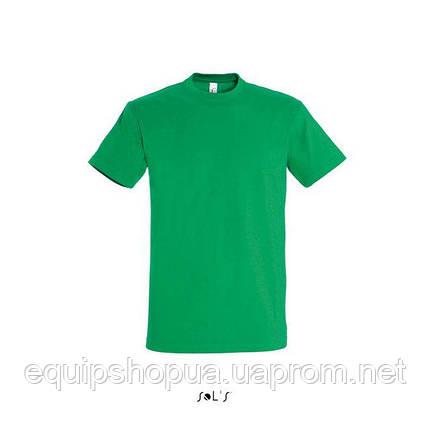 Футболка мужская с круглым воротом SOL'S IMPERIAL-11500  Зелёная, s, фото 2