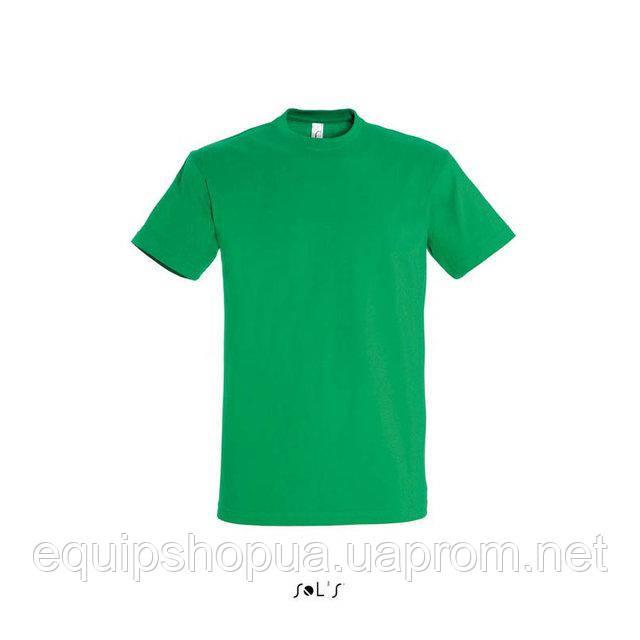 Футболка мужская с круглым воротом SOL'S IMPERIAL-11500  Зелёная, xl