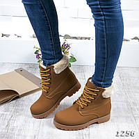 Зимние ботинки эко-кожа под набук