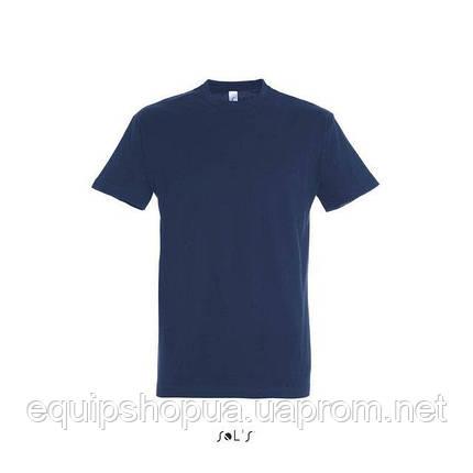 Футболка мужская с круглым воротом SOL'S IMPERIAL-11500  Тёмно-синяя, s, фото 2