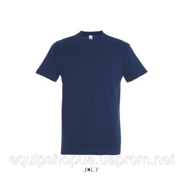Футболка мужская с круглым воротом SOL'S IMPERIAL-11500  Тёмно-синяя, m