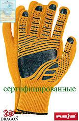 Перчатки защитные из флюоресцентной ткани, отделанные резинкой, проклеенные FLOATEX-NEO PB