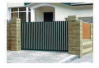 Откатные алюминииевые ворота Алютех ADS 400