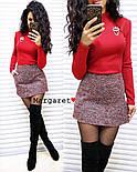 Женский стильный костюм: гольф и юбка-трапеция букле (в расцветках), фото 3