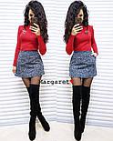 Женский стильный костюм: гольф и юбка-трапеция букле (в расцветках), фото 4