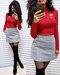 Женский стильный костюм: гольф и юбка-трапеция букле (в расцветках), фото 8