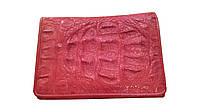 Кошелек из кожи крокодила Красный (cw28)