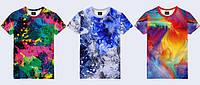 """Мужская футболка 3D """"Краски"""" (p.S-2XL), фото 1"""