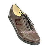 """Кожаные коричневые женские кроссовки на шнуровке. ТМ """"Maestro"""", фото 3"""