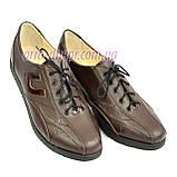 """Кожаные коричневые женские кроссовки на шнуровке. ТМ """"Maestro"""", фото 5"""