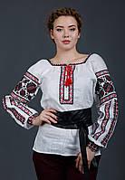 Блуза вышиванка с белого льна, фото 1