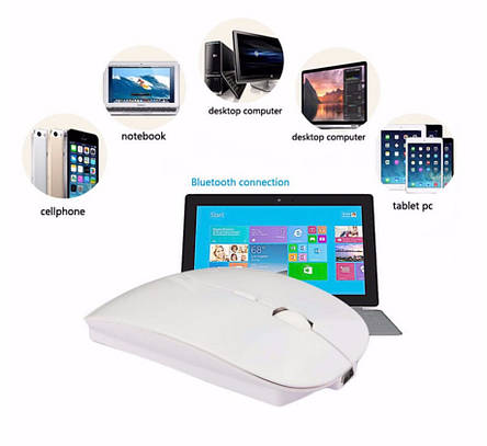 Перезаряжаемая мыш Azzor с батареей мышка аккумуляторная компютерная мишка з акумулятором, фото 2