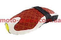 Чохол сидіння для мопеда Active (чорно-коричневий, KOSO) SOFT SEAT
