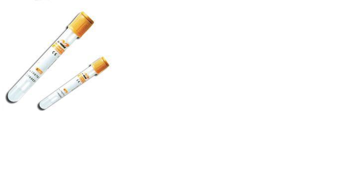 Пробирка вакуумная 16х100 мм с гелем и активатором свертывания 8,5 мл (желтая крышка)