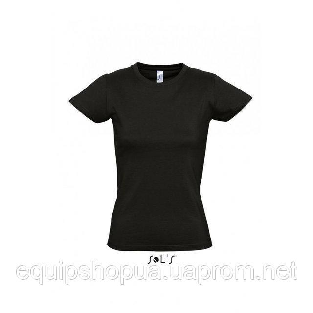 Футболка женская с круглым воротом SOL'S IMPERIAL WOMEN-11502 Чёрный, xl