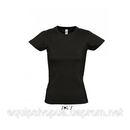 Футболка женская с круглым воротом SOL'S IMPERIAL WOMEN-11502 Чёрный, xxl, фото 2