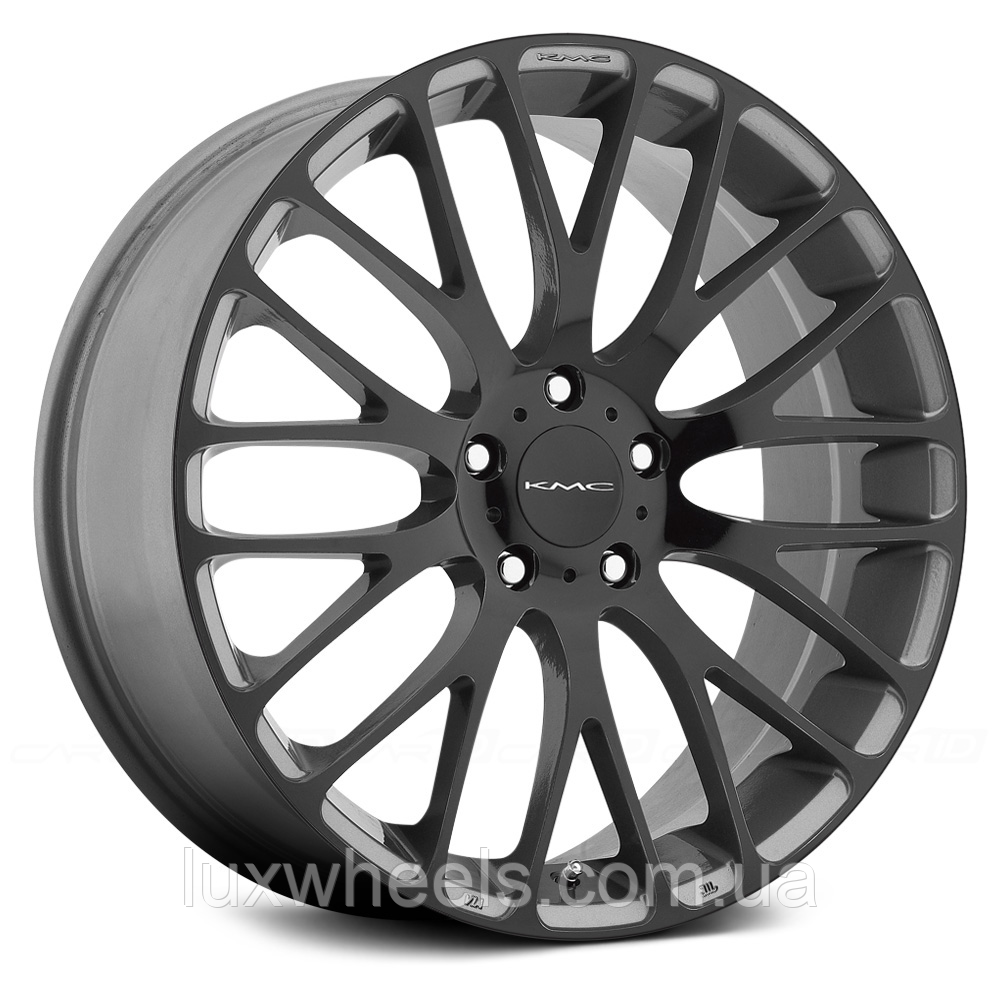 KMC KM693 MAZE Pearl Gray with Gloss Black Face